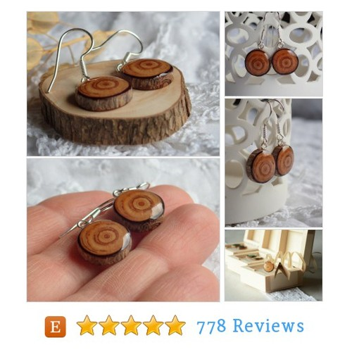 Dangle earrings, natural wood and sterling #etsy @mypieceofwood  #etsy #PromoteEtsy #PictureVideo @SharePicVideo