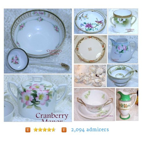 Vintage China from CranberryManor Etsy shop #VintageChina #etsy #PromoteEtsy #PictureVideo @SharePicVideo