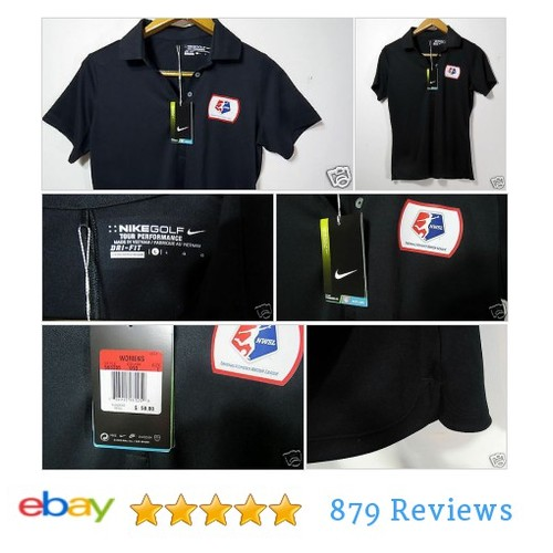 NWT #Nike Golf Tour Performance Women's Dri-Fit Size Large Black Shirt Top #Top #Shirt #etsy #PromoteEbay #PictureVideo @SharePicVideo