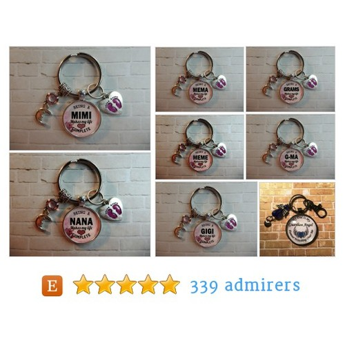 GRANDMA KEY CHAINS - Grandma Gifts by CaliKays Etsy shop #KEYCHAIN #etsy #PromoteEtsy #PictureVideo @SharePicVideo