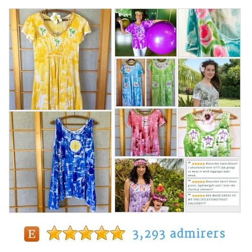Hawaii Hand Painted Fashion for MOM #etsyfashion #etsymntt #epiconetsy @Retweet_Lobby @HyperRTs @DNR_CREW @FameRTs #etsy #PromoteEtsy #PictureVideo @SharePicVideo