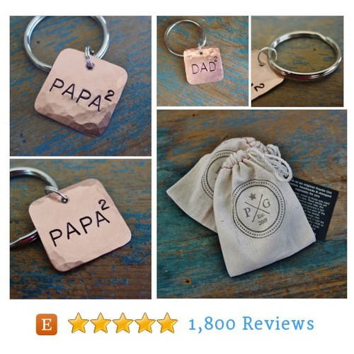Papa 2 Key Chain, Papa Squared, DAD to the #etsy @pearliegrl  #etsy #PromoteEtsy #PictureVideo @SharePicVideo