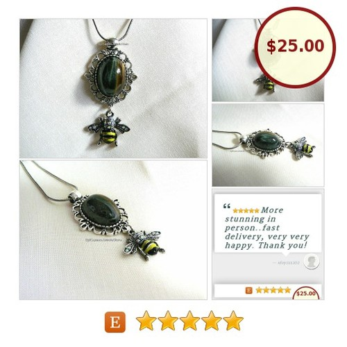 #TigersEye #Gemstone #Pendant #Snake #Necklace #BeeCharm #SylCameoJewelsStore #Jewelry #CharmNecklace #etsyspecialt #integrityt #handmade #giftideas #jewelrylovers #shopsmall #etsy #PromoteEtsy #PictureVideo @SharePicVideo