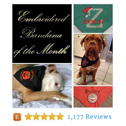 Embroidered Dog Bandana of the Month 12 #etsy @glamour_dog  #etsy #PromoteEtsy #PictureVideo @SharePicVideo