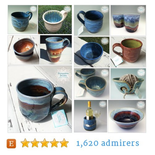 Mugs Cups Mugs & Cups from Bungalow Studio Pottery Company by BungalowSPC Etsy shop #Mug #Cup #etsy #PromoteEtsy #PictureVideo @SharePicVideo