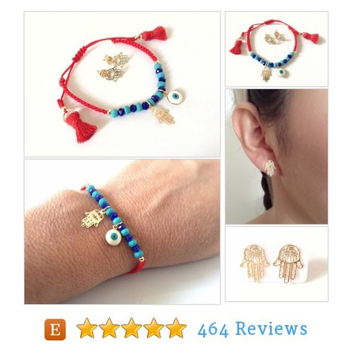 Blue Evil eye Bracelet Lucky charm Gold #etsy @sifrimania  #etsy #PromoteEtsy #PictureVideo @SharePicVideo