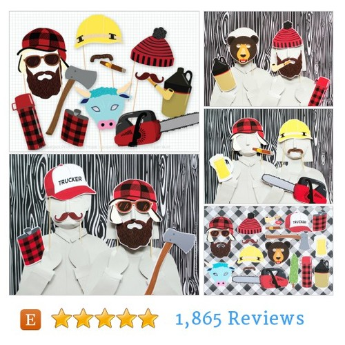 Lumberjack Party Photo Booth Props, #etsy @paperbuilt  #etsy #PromoteEtsy #PictureVideo @SharePicVideo