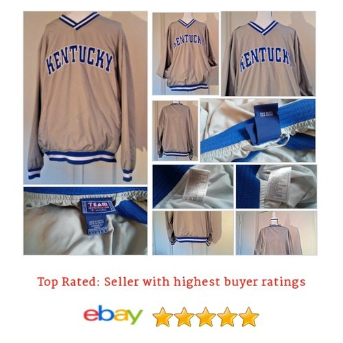 University #Kentucky Gray Pullover VNeck #Windbreaker Mens  Wildcats Team Ed #NCAA #Souvenir #EAApparel #FanApparel #etsy #PromoteEbay #PictureVideo @SharePicVideo
