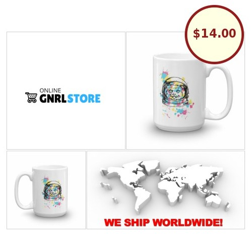 #Astronaut #Cat #Coffee Mug 11 - 15 oz cup - Crazy Cat Lady Gift #Tea Lovers Cup |#OnlineGNRLSTORE #etsy #PromoteEbay #PictureVideo @SharePicVideo