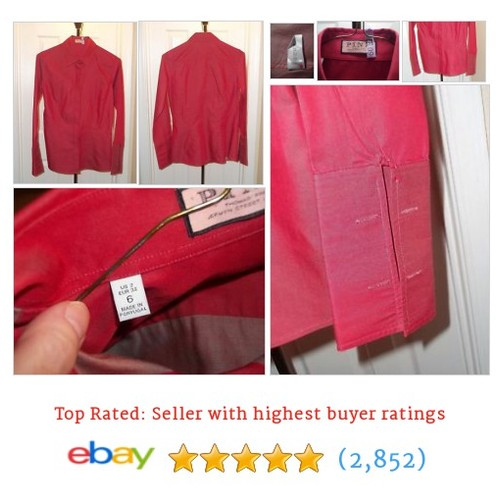 Thomas Pink Women's Red Cotton Blouse Shirt French Cuffs Hidden #ebay @reeree512  #etsy #PromoteEbay #PictureVideo @SharePicVideo