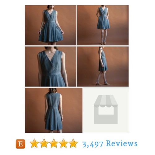 gray wool wrap dress / pleated mini wrap #etsy @persephonevint  #etsy #PromoteEtsy #PictureVideo @SharePicVideo