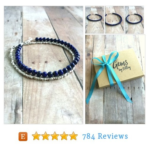 Lapis Lazuli Bracelet, Cobalt Blue Natural #etsy @gemsbykelley https://www.SharePicVideo.com/?ref=PostPicVideoToTwitter-gemsbykelley #etsy #PromoteEtsy #PictureVideo @SharePicVideo