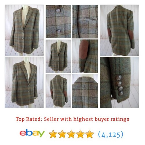 Ralph Lauren Blazer 12 New Tans Browns Plaid Pure Wool Patched Elbows #ebay @labelsbygina  #etsy #PromoteEbay #PictureVideo @SharePicVideo