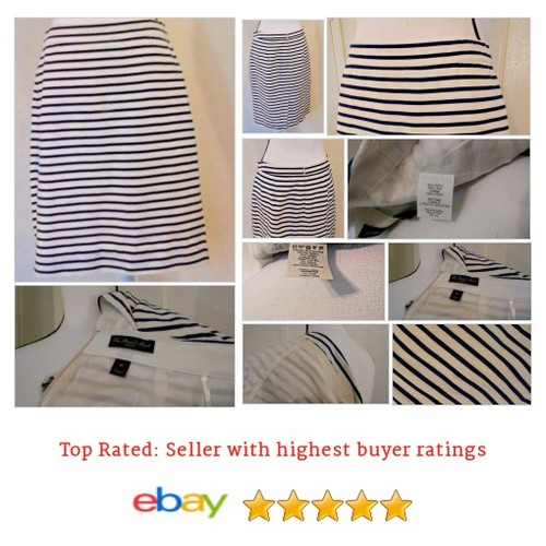 J Crew Women's #Skirt Pencil Size 6 #Navy White Striped Horizontal #Back #Slit | eBay #JCrew #Pencil #etsy #PromoteEbay #PictureVideo @SharePicVideo
