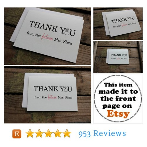 Thank You from the Future Mrs. Cards with #etsy @pontomountain  #etsy #PromoteEtsy #PictureVideo @SharePicVideo