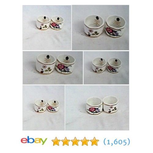 Two Wedgwood Napkin Rings Wild Strawbery and Charnwood Fine Bone #ebay @aladins  #etsy #PromoteEbay #PictureVideo @SharePicVideo