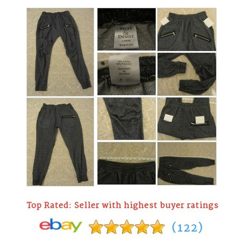 mens seize & desist jogger pants L #ebay @dj_konvict512  #etsy #PromoteEbay #PictureVideo @SharePicVideo