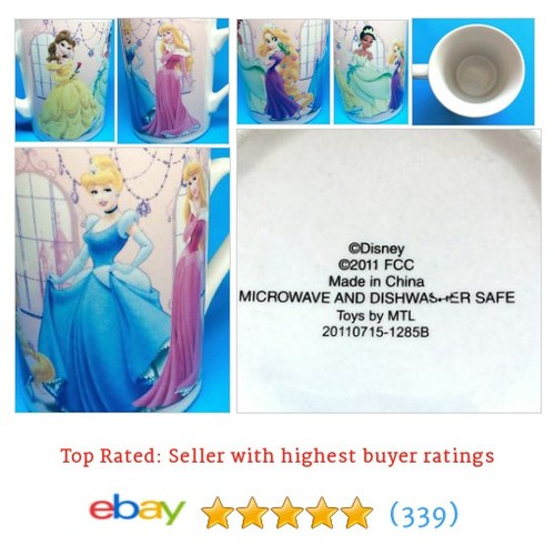 Disney Princesses Coffee Mug Cup Belle Tiana Cinderella Rapunzel #ebay @sherrieschoice  #etsy #PromoteEbay #PictureVideo @SharePicVideo