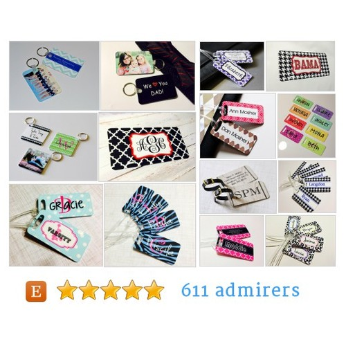 Tags & Key Chains #etsy shop #tag #keychain @printedconcept  #etsy #PromoteEtsy #PictureVideo @SharePicVideo