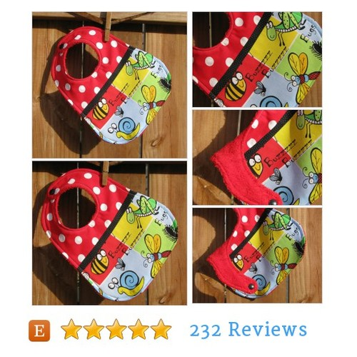 Baby Bugs and Red Poka Dot Terry Bib - Baby #etsy @littlebitbibs  #etsy #PromoteEtsy #PictureVideo @SharePicVideo
