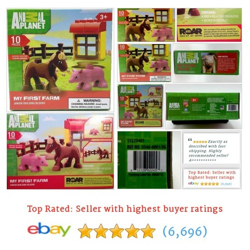 Animal Planet My First Farm 10 Piece Junior Building Blocks Set New | eBay #etsy #PromoteEbay #PictureVideo @SharePicVideo