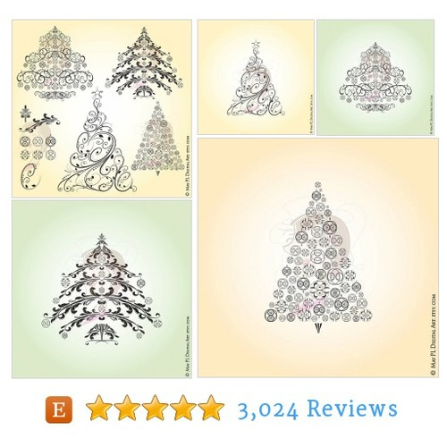 Christmas VECTOR Trees Retro Christmas #etsy @maypldigitalart  #etsy #PromoteEtsy #PictureVideo @SharePicVideo
