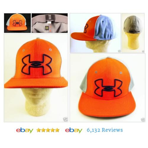 UNDER ARMOUR Orange Gray Baseball Cap Sz L/XL #Hat #UnderArmour #BaseballCap #etsy #PromoteEbay #PictureVideo @SharePicVideo