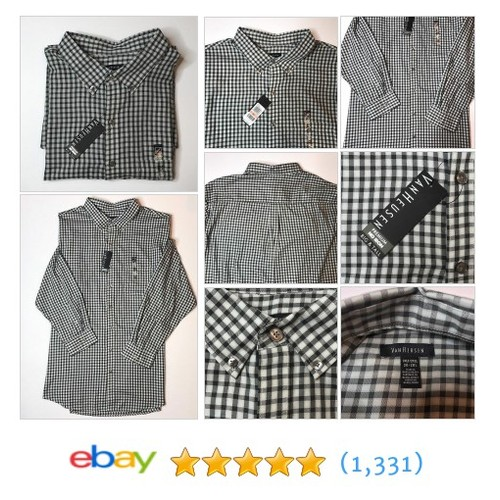 Van Heusen Mens Long Sleeve Dress Shirt Black & White Big & Tall Size 3XL T  | eBay #etsy #PromoteEbay #PictureVideo @SharePicVideo