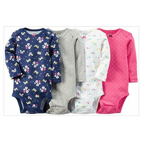 Carter's Baby Girls' 4 Pack Print Bodysuits (Baby) - Pink - 6M #socialselling #PromoteStore #PictureVideo @SharePicVideo