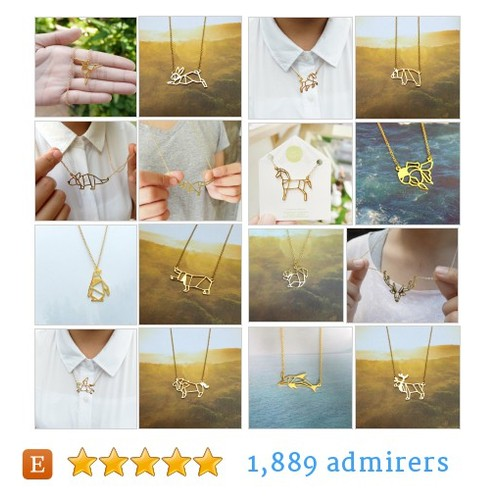 Origami Necklace Etsy shop #origaminecklace #etsy #PromoteEtsy #PictureVideo @SharePicVideo