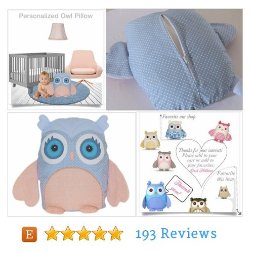 Handmade Owl, Owl Pillow, Blue Owl Pillow #etsy @chinook_design  #etsy #PromoteEtsy #PictureVideo @SharePicVideo