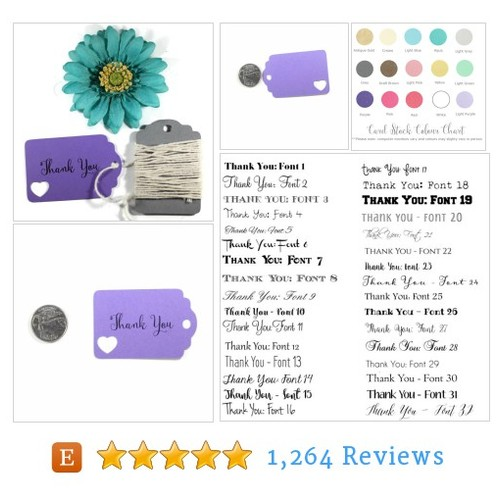 Purple Thank You Tags Set of 20 - Die Cut #etsy @thepapermedley  #etsy #PromoteEtsy #PictureVideo @SharePicVideo