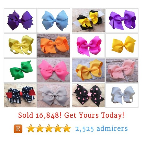 4 inch bows Etsy shop #4inchbow #etsy #PromoteEtsy #PictureVideo @SharePicVideo
