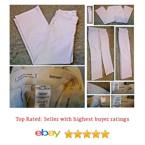 Dockers Women's Pants Size 8 Beige Comfort Waist Band Chinos Cotton Blend Work | eBay #Pant #Khaki #Chino #etsy #PromoteEbay #PictureVideo @SharePicVideo