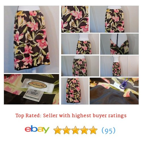 Talbots Women's #Skirt Size 12 Floral Multi-Color Silk Blend Spring Date Summer | eBay #ALine #Talbot #etsy #PromoteEbay #PictureVideo @SharePicVideo