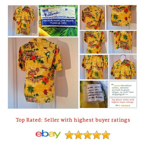 #Vintage 60's #Colletible #HawaiianShirt Size Medium Rayon Yellow | eBay #CasualShirt #RoyalIslander #etsy #PromoteEbay #PictureVideo @SharePicVideo