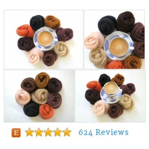 Merino Wool Roving Palette #CraftSupply @FeltEvolution  #etsy #PromoteEtsy #PictureVideo @SharePicVideo