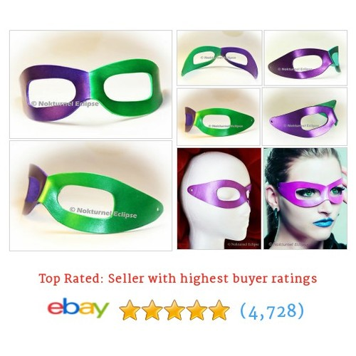 Purple & Green Riddler Leather Mask Halloween Batman Masquerade #ebay @spikedleather  #etsy #PromoteEbay #PictureVideo @SharePicVideo