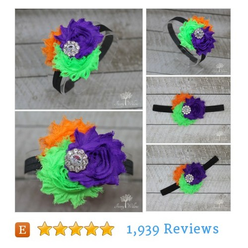 Halloween Flower Headband - Halloween #etsy @theivorywillow  #etsy #PromoteEtsy #PictureVideo @SharePicVideo