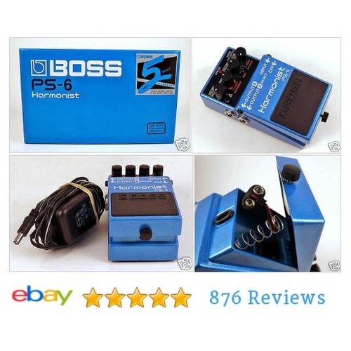 BOSS Roland PS-6 Harmonist Shifter Octave Pitch Guitar Effect Pedal #Bos #Filter #Modulation #etsy #PromoteEbay #PictureVideo @SharePicVideo