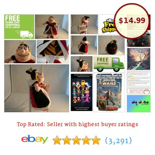 DISNEY STORE-ALICE IN WONDERLAND-QUEEN OF HEARTS-BEAN PLUSH-8 IN-NEW/TAGS-UNIQUE | eBay #DisneySTOREEXCLUSIVE #etsy #PromoteEbay #PictureVideo @SharePicVideo