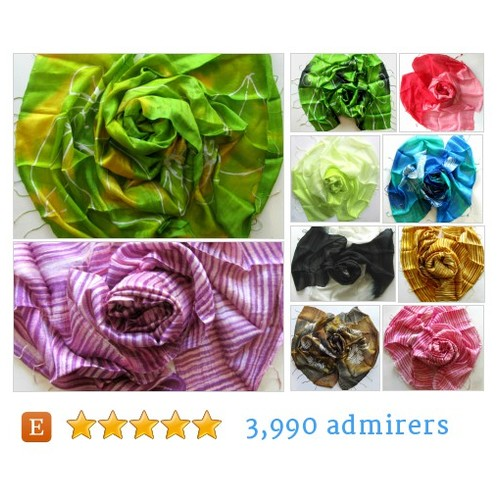 Silk Scarves & Shawls - Silk Scarves & Handmade Jewelry by PlanetEarthHandmade Etsy #etsy #PromoteEtsy #PictureVideo @SharePicVideo