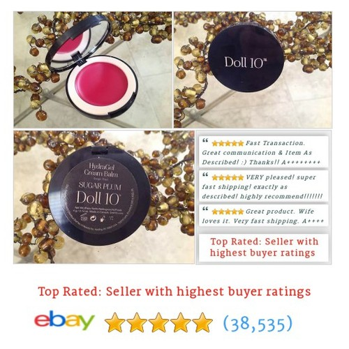 Doll 10 Hydragel Cream Balm Rouge in SUGAR PLUM Brand new #sellonebay #ebay @TerisCosmetics  #etsy #PromoteEbay #PictureVideo @SharePicVideo