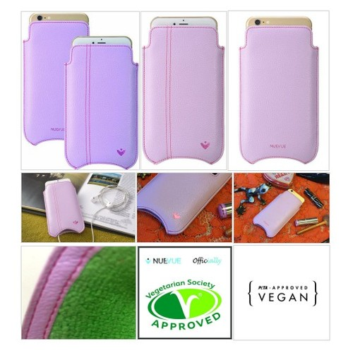 Purple Faux Leather Built-in Screen Cleaning Technology iPhone 7 Plus pouch case. #socialselling #PromoteStore #PictureVideo @SharePicVideo