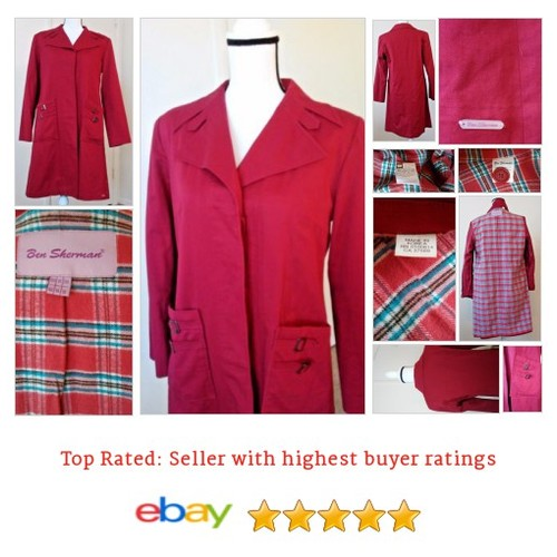 #BenSherman Women's #Coat Size 10 Brick #Red | eBay #Jacket #Raincoat #etsy #PromoteEbay #PictureVideo @SharePicVideo