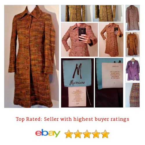 #Guess by #Marciano Women's #Coat Size S Small #Tweed Long Multi-Color #60s  #etsy #PromoteEbay #PictureVideo @SharePicVideo