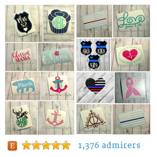 Decals #etsy shop #decal @purplerosecraft  #etsy #PromoteEtsy #PictureVideo @SharePicVideo