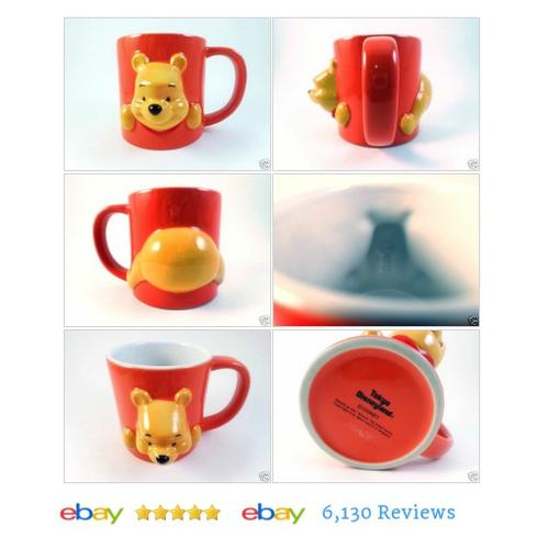 3D Winnie the #Pooh #TOKYO DISNEY #Mug Coffee Tea Ceramic Cutest A. A. Milne #Glass #etsy #PromoteEbay #PictureVideo @SharePicVideo